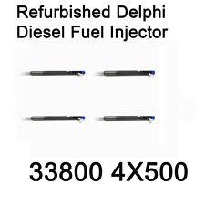33800 4X500 Refurbished Delphi Diesel Fuel Injector 4p for Hyundai Terracan Kia