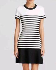 NWOT Kate Spade Stripe Scuba Knit Dress Black White Colorblock Sweater size M