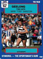 ✺New✺ 1990 GEELONG CATS AFL Card MARK BAIRSTOW Scanlens