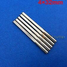 10pc Double Flute Straight Endmill Tool CNC Router Bits FOAM MDF PVC WOOD 4*32mm