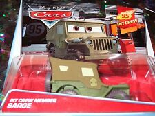"DISNEY PIXAR CARS ""PIT CREW SARGE"" Die-Cast Metal, Scale 1:55, New, Mattel"