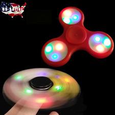LED Hand Spinner Tri Fidget Finger Spinner EDC Spin Stress Focus Desk Toy Gift