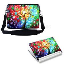 "17"" 17.3"" Neoprene Laptop Sleeve case Bag w Shoulder Strap & Matching Skin 3128"
