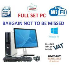WINDOWS 10  COMPUTER DESKTOP PC FULL SET CORE 2 DUO @ 3.00GHz & 19'' TFT 4GB RAM