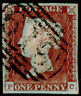 SG9, 1d pale red-brown PLATE 50, FINE USED. Cat £50. 4 MARGINS. PC