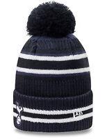 New Era Tottenham Hotspurs Jake Knit Bobble Hat in Optic White