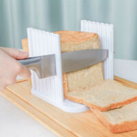 Bread Toast Cutter Slicer Toast Layerer Cake Slicer Kitchen Baking Tools White