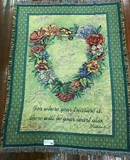 Irr Where Your Treasure is There Will Be Your Heart Matt 6:21 Scripture Blanket