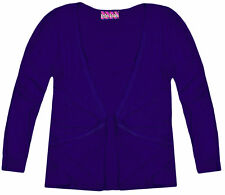 Girls Long Sleeves Cardigan Kids New Plain Open Boyfriend Top Age 2 3 4 5 6 Year