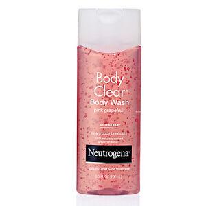 Neutrogena Body Clear Body Wash Pink Grapefruit, Salicylic Acid 8.5 oz (250 ml)