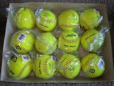 "(12) Rawlings 12"" Little League 7oz Pro Leather Softballs Model Px2Rylll"