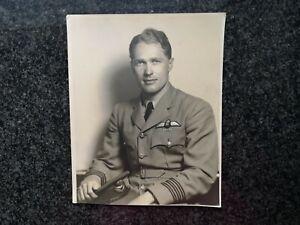 Photograph 25x20cm RAF OFFICER - CRACKER ATKINSON - WWII Casualty - BATHURST