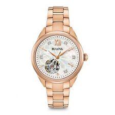 e9476440227 Bulova 97P121 Women s Diamond Automatic Rose Gold Steel Watch