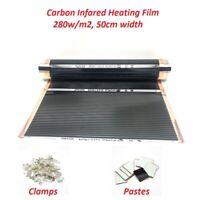 280w/m2 Infrared AC220V Carbon Underfloor Heating Film Energy Saving Warm Mat