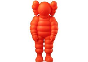 KAWS WHAT PARTY by MEDICOM TOY PLUS Open Edition Figure Orange New