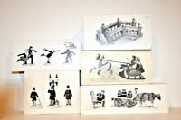 Department 56 Heritage Village Collection Accessories 5 items- BUNDLE LOT #6