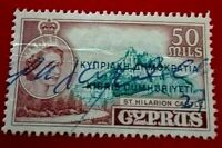 Cyprus:1960 Stamps of 1955 Overprinted 50M Rare & Collectible stamp.