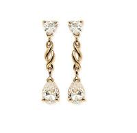 Boucle D'oreilles Coeur de cristal Zirconium Plaqué Or 18 Carats  Bijoux