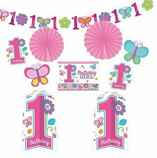 Baby 1st Birthday Party Girl Party Room Decorating Kit