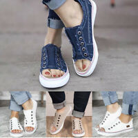 US Women Open Toe Casual Flats Sneaker Ladies  Slip  Loafers Shoes