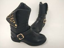 NEW! Skechers Youth Girl's Mad Dash Starry Steps Zip Up Boots Blk#87953L 201L cc