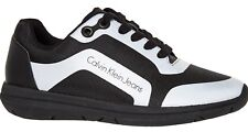 CALVIN KLEIN JEANS Women's ISABEL Trainers, Black & Silver, UK 5 6, RRP £90