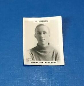 CHARLTON ATHLETIC FOOTBALL CLUB 1920s PINNACE B+W PHOTO CARD J HUGHES # 780 CAFC