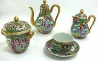Très joli service à thé/café, porcelaine de Chine Canton, miniature.