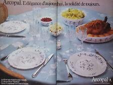 PUBLICITÉ 1979 ARCOPAL DÉCOR VÉRONICA VERRES LONGCHAMP EN CRISTAL - ADVERTISING
