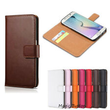 Samsung Galaxy S5 Wallet Case Genuine Real Leather Flip Card Slot Cover