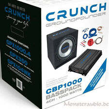 CRUNCH 1000 Watt Bass Set Auto Hifi Komplettanlage Subwoofer Verstärker CBP1000