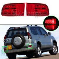 2X LED Rear Bumper Tail Fog Light Lamp for Toyota Land Cruiser Prado 120 2002-09
