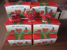 CHRISTMAS WHOLESALE LOT Of Ten 3 Piece Gift Sets NEW IN BOX