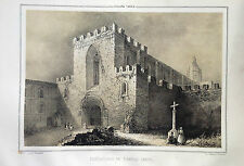 CATALUÑA, MONASTERIO DE SANTAS CREUS, lit.original de Parcerisa 1839-1865
