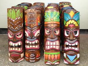 TIKI MASKS Wooden Carved 50cm MULTI LISTING TIKI BAR.....