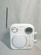 Brookstone Digital Shower Am/Fm Radio with Clock v2.0 - Water-Resistant