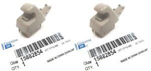 OEM NEW Pair Right or Left Sunvisor Shade Support Clip Gray 07-13 GM Trucks SUVS
