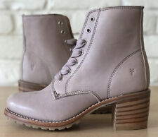 Frye Womens Sabrina Moto Blush Pink Fashion Boots Size 7.5 Made In USA