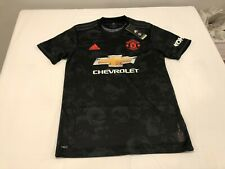NWT $90.00 Adidas Mens Manchester United FC Soccer Third Jersey Black Sz MEDIUM