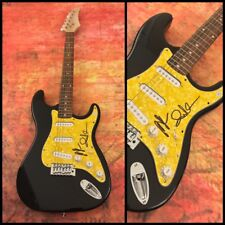 GFA Andrew VanWyngarden & Ben MGMT Signed Band Electric Guitar M4 COA