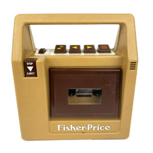 Fisher Price Vintage 1980's Brown Cassette Tape Recorder Player 826 TESTED WORKS