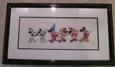 Disney Sericel Mickey Through The Years 65th BIRTHDAY 1 OF 5000 with COA