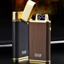 New Electric Rechargeable Lighter Arc Usb Windproof Flameless Dual Plasma Torch