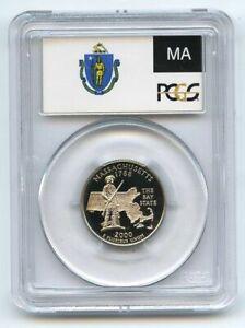 2000 S 25C Clad Massachusetts Quarter PCGS PR70DCAM