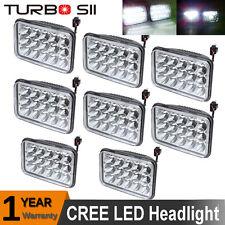 8x LED Headlights For Peterbilt Rectangular Kenworth T800 T400 T600 W900B