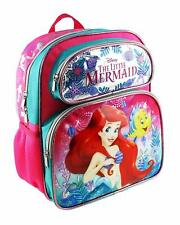 "Disney The Little Mermaid Ariel 12"" Pink Small School Backpack A16504"