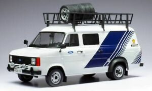 IXO 18RMC058XE FORD TRANSIT MK.II Team Ford with roof accessories 1:18th scale