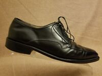 Salvatore Ferragamo Men Black Oxford Leather Lace Up Apron Toe Shoes Size 10.5 D