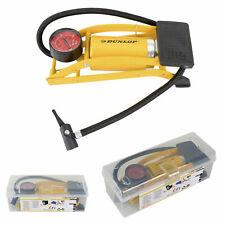Dunlop Air Pump Foot Bicycle Pressure Gauge Professional