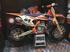 KTM Red Bull Jeffery Herlings Toy 1:12 Motocross SXF 450 2017 NEW New Ray No84